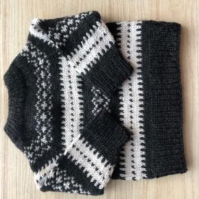 Strik. Islændertrøje til dreng eller pige. 65% alpakka/35% uld.  Køber betaler porto.