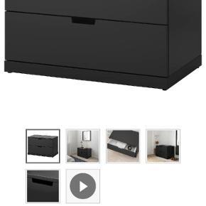 2 sorte skuffer. Str. 80 × 45 cm. Aldrig pakket ud. 660 kr. pr. skuffe. Afhentes tæt på Amagerbro Metro.