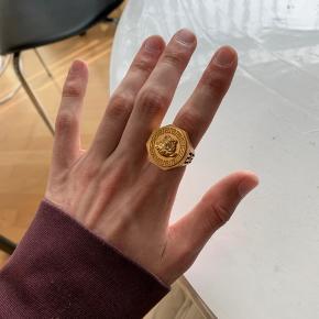 Belagt med 18k guld Størrelse 17