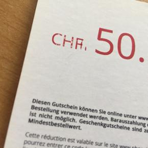 Phonelook voucher worth CHF 50.00, unlimited expiration date, valuable for all items on website - je suis à Genève