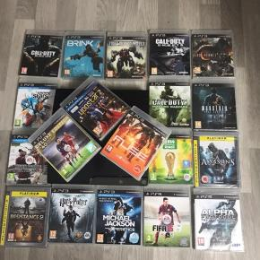 PlayStation3 alene 300kr Med alle de spil 700  Uden controllers! Men jeg har opladerstik til hvis i vil ha det med så det gratis!!!
