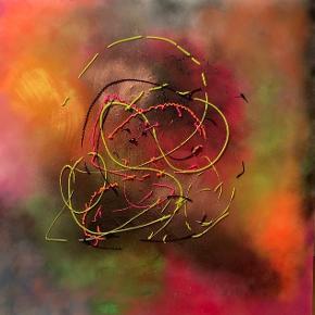 Akryl på lærred. 100 x 100 cm