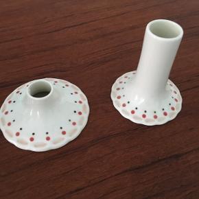 Fin keramik vase og lysestage fra Liebe.  Pris er pr stk
