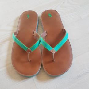 Sandaler/ klipklappere fra Ralph Lauren. Str 39. Som nye