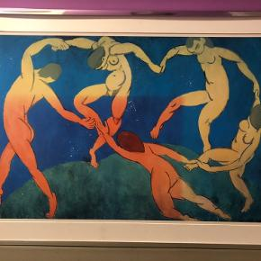 Antik Matisse plakat som er indrammet. Rammen følger med