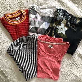 Jeg har lidt forskellige bluser, nogle er næsten ikke brugt, hvor andre er brugt, men er i en god tilstand  Spørg bare løs⭐️