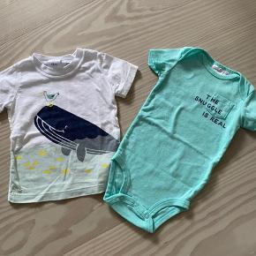 Tshirt og body   Pr. stk. = 50 kr  Samlet = 85 kr