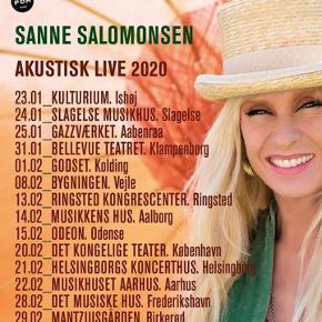 IKKE OMFATTET AF TØM SHOPPEN TILBUD!!  * koncertbilletter *   To billetter til Sanne Salomonsen i det kgl teater den 20. Februar 2020 sælges.   Pris pr billet var 555 kr.   Række D, plads 24+26   Sælges kun da vi hellere vil til koncerten i Odense som først er offentliggjort efterfølgende.