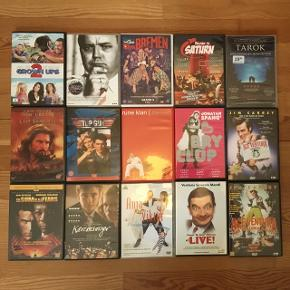 Diverse dvd film. 15 kr. pr. stk.
