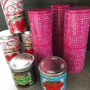 Diverse kagedåser Pink: højde 15 cm Pris er pr stk.  Plus evt forsendelse