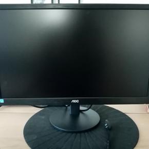 "AOC e2270swhn - LED-skærm - 21.5"" (21.5"" til at se) - 1920 x 1080 Full HD (1080p) - 200 cd/m² - 700:1 - 5 ms - HDMI, VGA - 60hz"