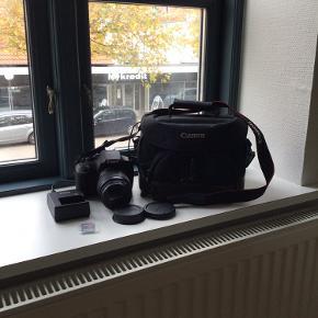 Jeg sælger dette skønne kamera Canon EOS 1200D, da jeg kun har haft den i brug meget få gange (ca. 4-5 gange). Der medfører en kamerataske og opladeren som passer til ☺️ Ny pris er 1800 kr  Så hvis du er interesseret eller vil vide mere så send en besked til mig ☺️