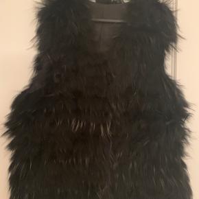 Pels vest 100% real fur