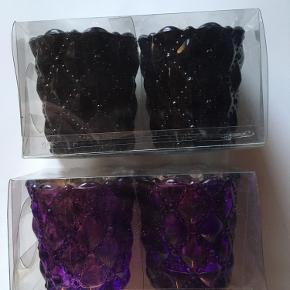 Søde små lysestager En pakke med sorte og en med lilla  Aldrig pakket ud