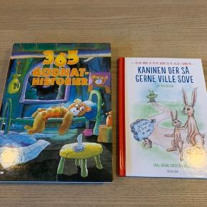 Børnebøger, godnat historier, kaninen der så gerne ville sove og 365 godnat-historier.  Samlet salgspris