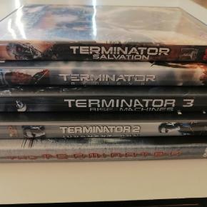 Terminator 1 2 3 4 5 Dansk tekst Sælges samlet