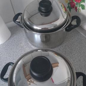 2 stk RAADVAD gryder 2/3 liter. 2 l er aldrig brugt og 3 l brugt få gange.