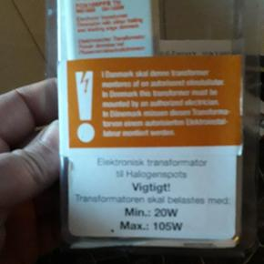 Elektronisk transformator til halogen spots. Ny