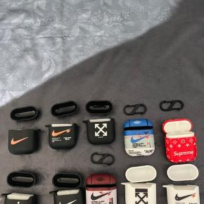 AirPod 1 og 2 covers i forskellige logoer.  80kr. stykket, mængderabat ved køb af flere.