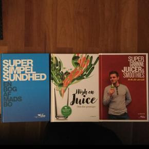 3 helt nye ubrugte juice bøger af Mads Bo.  Værdi 444.- sælges samlet.
