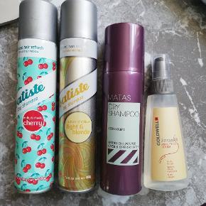 Brugte hårprodukter. Gold well Kerasilk anti frizz (70%tilbage)2 batiste dry shampoo - godt brugt- og 1 rest af Matas dry shampoo