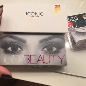 Brand: Huda Beauty, Iconic London, Ardell Varetype: Eyelashes Størrelse: Normal Farve: Black Oprindelig købspris: 394 kr.  I'm selling eyelashes.  Great Value for the price. You're basically paying for 1 pair and getting the other 2 for free.  Huda Beauty in Farah #12 Iconic London Ardell 110  The retail price of each of these is  Huda Beauty 165 KR Iconic London 169 KR Ardell 59.95 KR