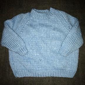 86 ny hjemmestrik lyseblå strik sweater trøje Bluse