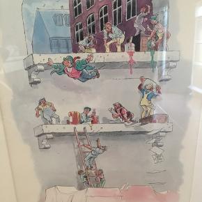 Signeret og nummereret plakat af Will Eisner i passe partout ramme i hvidpigmenteret træ. Indrammet hos glarmester. Måler 58,5x76,5 cm. Will Eisner var en amerikansk tegneserietegner og -forfatter. Plakaten er købt i 1996 på Charlottenborg. Fin stand, kun mindre brugsspor på rammen.