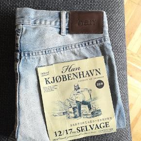 Han Kjøbenhavn jeans i selvage denim. Aldrig brugt.