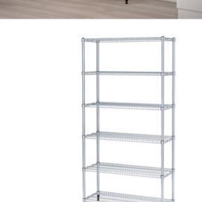 Ikea stål reol  Måler 92x36x181 cm