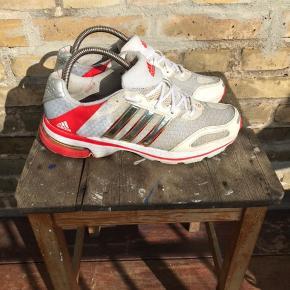 Vintage Adidas sneakers  Hvide/rød Str 40 2/3