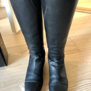 Super lækre læderstøvler fra Campus - næsten ikke brugt. Str 38