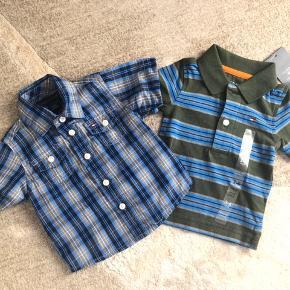 Skjorten er brugt en gang. Poloen er aldrig brugt. Str er 3-6 mdr