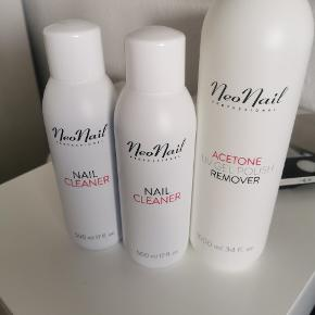 Neo Nail Profesional. 2× nail cleaner 500 ml.,  Acetone /remover 1000 ml.