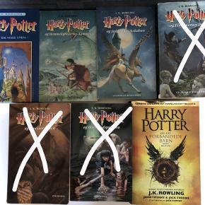 Harry Potter bøger Er i fin stand Er fra ikke ryger hjem Sælges for 30kr pr stk Samlet til 100kr