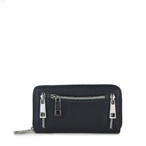 Nunoo 107 pung, washed black Skøn hverdagspung i sort med grove lynlåse på fronten. Pungen er fremstillet i læder og er designet med rå detaljer. Ydermere er pungen designet, så der er masser af plads til mønter, sedler samt kort. L: 16 x H: 9 x D: 2 cm