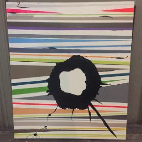 Maleri - malet med akrylmaling på hvidt lærred.Str 60x70cm  Afhentning på Frederiksberg.  Ønsker ikke at bytte.