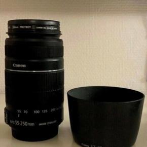 Objektiv, CANON EFS 55-250mm Image Stabilizer, macro 1.1m/4.6ft