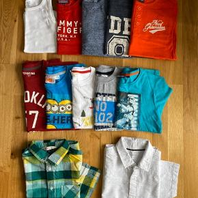 Langærmet trøjer i str: 134/140  Kortærmet skjorter i str: 152