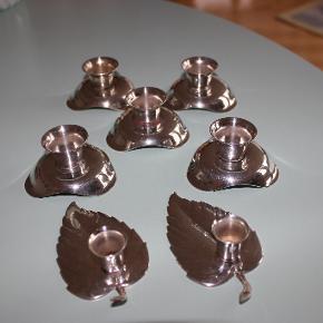 5 stk. HOH vendestager der både kan bruges til alm. lys samt julelys. 2 stk. blad lysestager fra Kronen. Pris pr. stk.