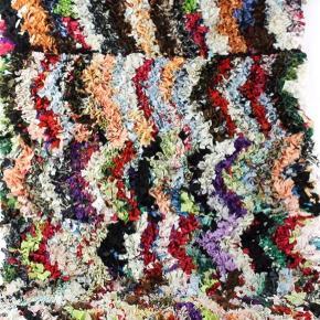 Unika  Håndlavet boucherouite tæppe. Måler 210x130 cm Salgspris 3550kr