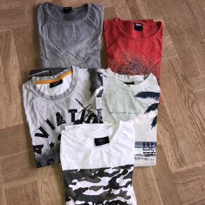 5 t-shirts fra DWG