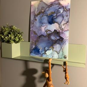 Unika maling/ forskellige medier på A4 papir. Lavet af mig selv, Camilla West Video kan sendes så man bedre kan danne sig et indtryk af form og farver. Maleri plakat