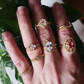 Smukke Ringe forgyldt. Se mere info på hver enkelt under min profil.