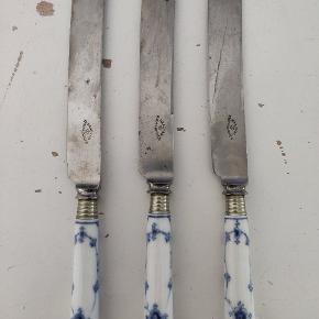 Pæne hele knive. 26 cm. 1 STK 400 kr, alle 3 for 900 kr