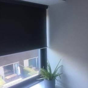 Koksgrå mørklægningsrullegardin  Aldrig brugt  Passer til vindue Brede 105 cm Længde 98 cm