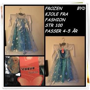 Frozen kjole fra fashion str 100 passer en 4-5 år nyt byd