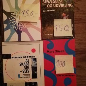 Pædagogik bøger. Skole og fritids pædagogik har overstregninger.