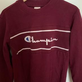super fed retro bordeaux champion sweatshirt  str. m, men ses på en xs #secondchancesummer