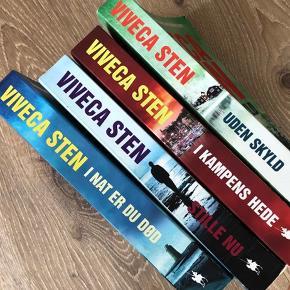 4 krimi bøger af Viveca Sten  - Uden Skyld - Stille Nu  - I Nat Er Du Død - I Kampens Hede   Skønlitteratur   Flot stand